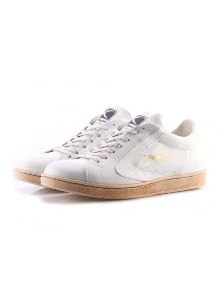 MEN'S SHOES SNEAKERS LEATHER WHITE VALSPORT TOURNAMENT 001
