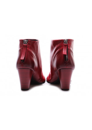 WOMEN'S SHOES BOOTS NAPPA LEATHER RED HALMANERA