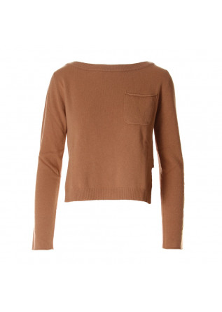 WOMEN'S CLOTHING KNITWEAR BROWN SEMICOUTURE