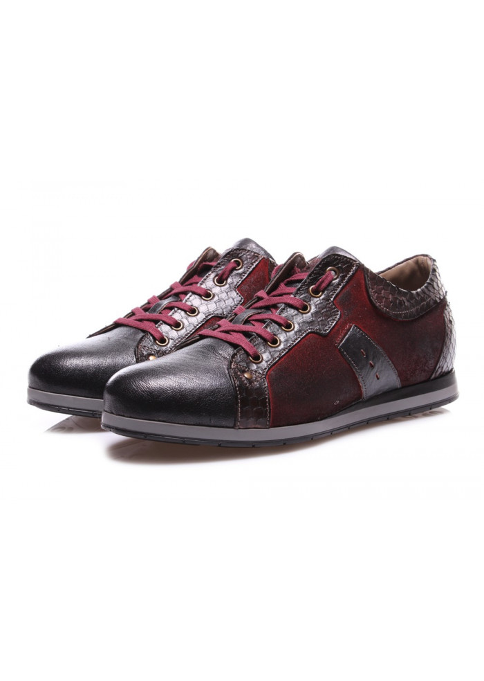 MEN'S SHOES FLAT SHOES BORDEAUX NICOLA BARBATO