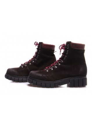 WOMEN'S SHOES BOOTS BROWN LES DROMONTS