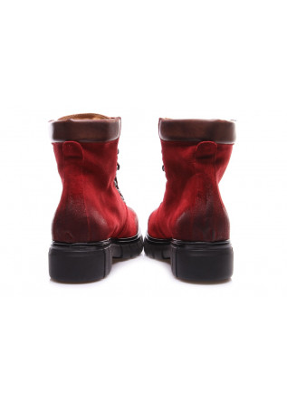 WOMEN'S SHOES BOOTS RED LES DROMONTS