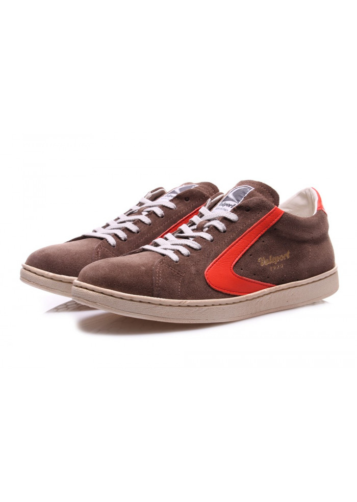 MEN'S SHOES SNEAKERS BROWN/ RED SUEDE VALSPORT