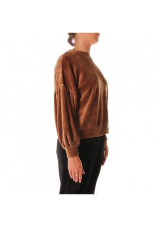 WOMEN'S CLOTHING SWEATSHIRTS BROWN 8PM