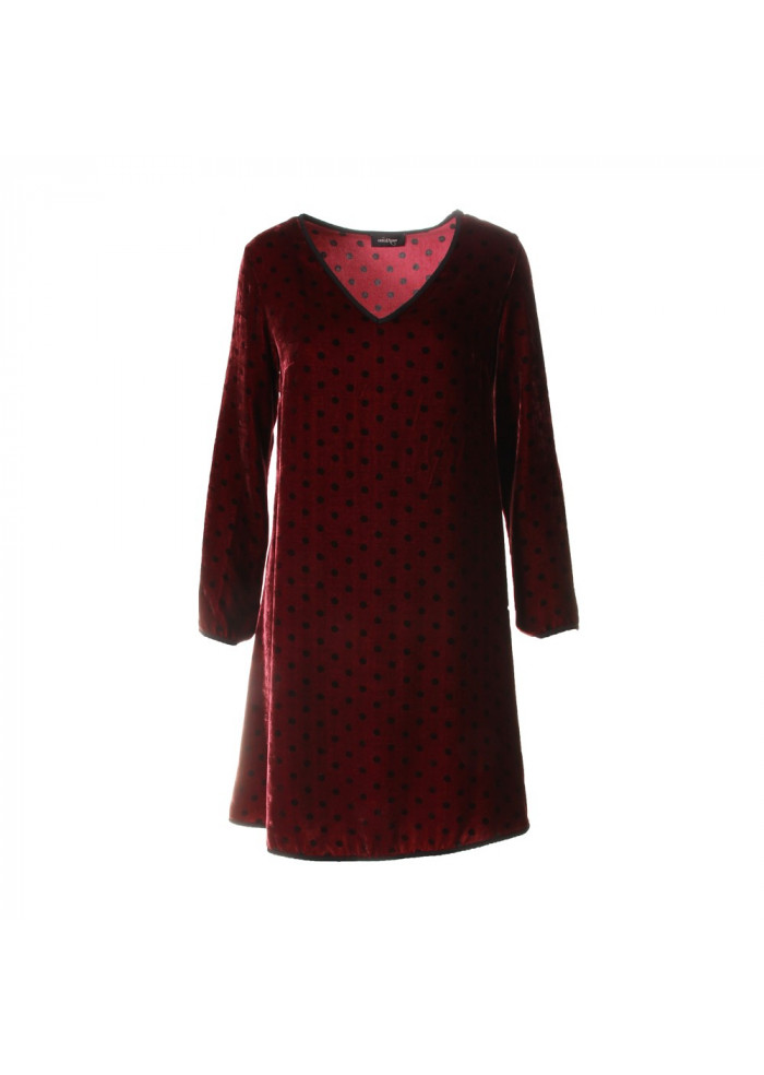 Damenkleidung Kleid Bordeaux Ottod Ame Png Da3368 Col 1634