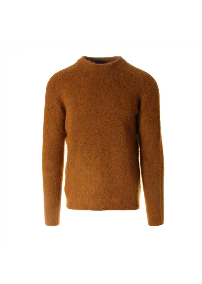 MEN'S CLOTHING KNITWEAR YELLOW WOOL & CO