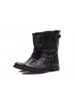 WOMEN'S SHOES BOOTS BLACK FIORENTINI + BAKER CAVALLO REVERSED  NERO