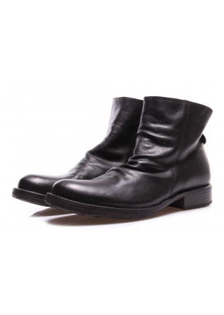 MEN'S SHOES ANKLE BOOTS IN GENUINE LEATHER BLACK FIORENTINI + BAKER