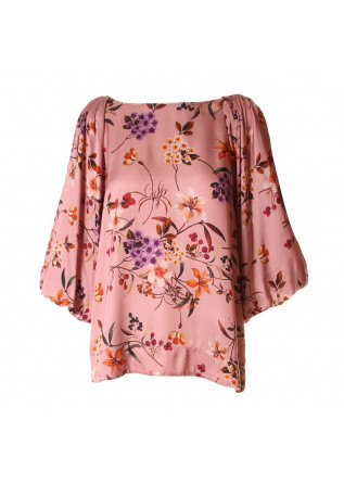 WOMEN'S CLOTHING SHIRT PINK FLOWERS SOALLURE