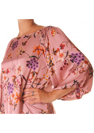 WOMEN'S CLOTHING SHIRT PINK FLOWERS SOALLURE
