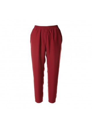 WOMEN'S CLOTHING TROUSERS STRAIGHT CUT BORDEAUX SOALLURE