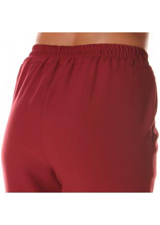 WOMEN'S CLOTHING TROUSERS STRAIGHT CUT BORDEAUX SOALLURE