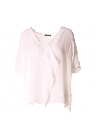 WOMEN'S CLOTHING SHIRT V-NECK WHITE SOALLURE