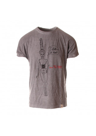 UNISEX CLOTHING T-SHIRT 'BARBIE REAL' PRINT GREY WRAD