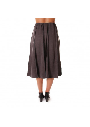 WOMEN'S CLOTHING SKIRT MIDI GREY AU PETIT BONHEUR