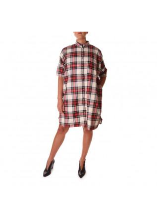 WOMEN'S CLOTHING SHIRT OVERSIZE RED AU PETIT BONHEUR