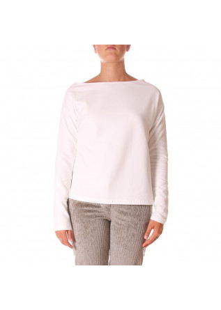 WOMEN'S CLOTHING SWEATSHIRT ORGANIC COTTON WHITE BIONEUMA
