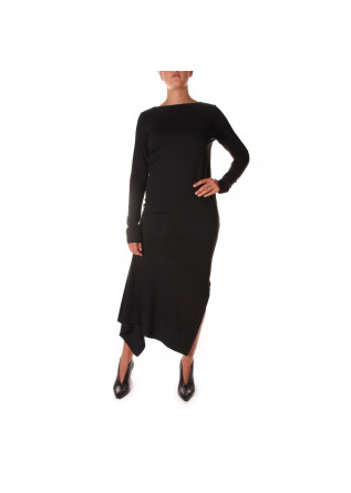 WOMEN'S CLOTHING DRESS LONG ASYMMETRIC BLACK VIRNA DRO'