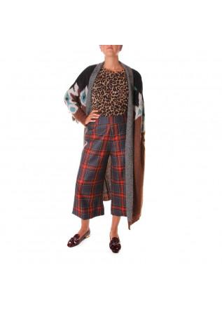 WOMEN'S CLOTHING KNITWEAR JERSEY ANIMALIER PRINT BROWN VIRNA DRO'