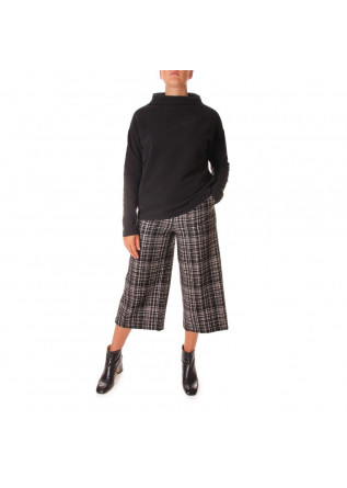 WOMEN'S CLOTHING TROUSERS TARTAN BLACK KUBERA 108