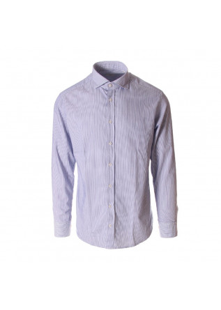 MEN'S CLOTHING SHIRT BLUE BASTONCINO