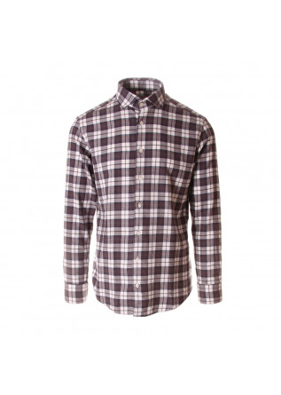 MEN'S CLOTHING SHIRT BROWN BASTONCINO