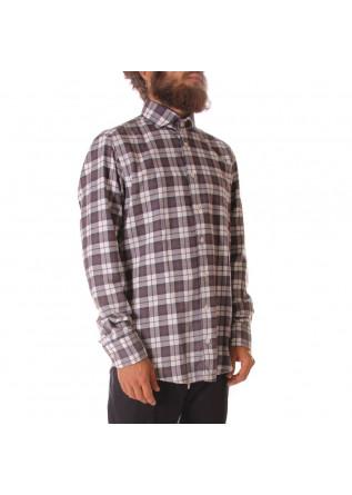 MEN'S CLOTHING SHIRT BROWN BASTONCINO