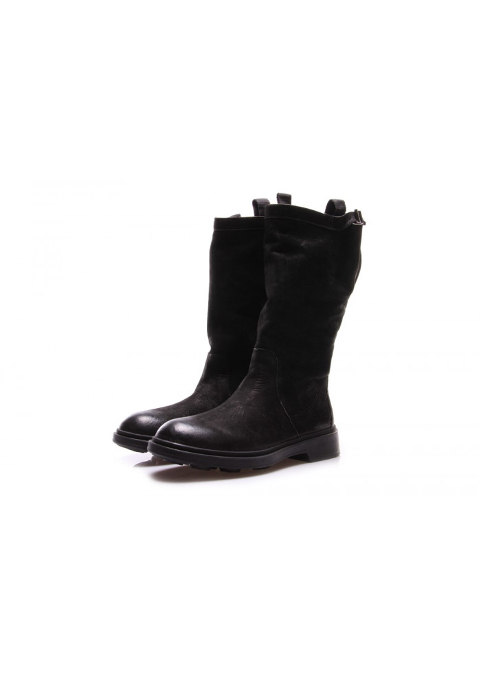 WOMEN'S SHOES ANKLE BOOTS LEATHER BLACK MANOVIA 52