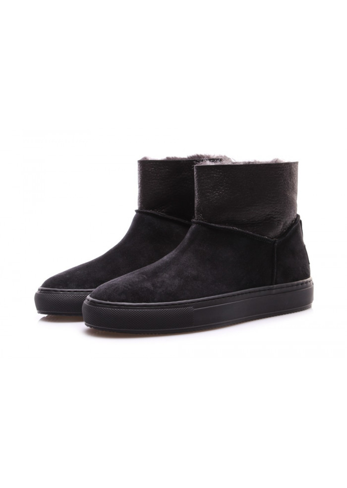 WOMEN'S SHOES ANKLE BOOTS SUEDE BLACK MANOVIA 52