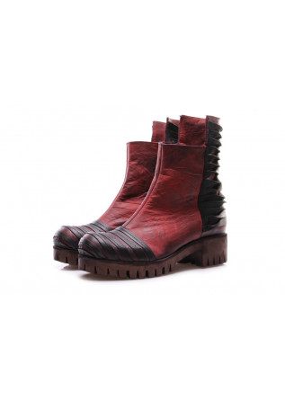 WOMEN'S SHOES BOOTS RED PAPUCEI