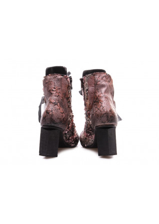 WOMEN'S SHOES HEEL BOOTS FLORAL PINK PAPUCEI