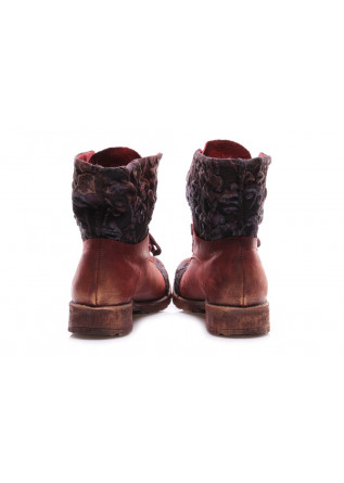 WOMEN'S SHOES ANKLE BOOTS FLORAL BORDEAUX PAPUCEI