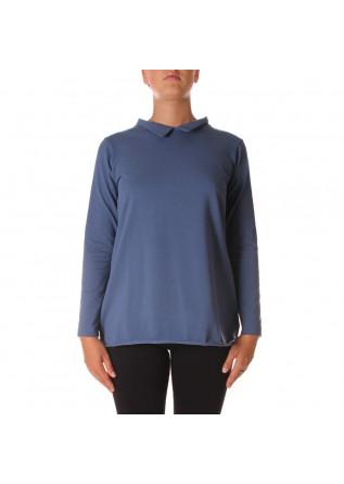 WOMEN'S CLOTHING T-SHIRT COTTON AVIO BLUE AU PETIT BONHEUR