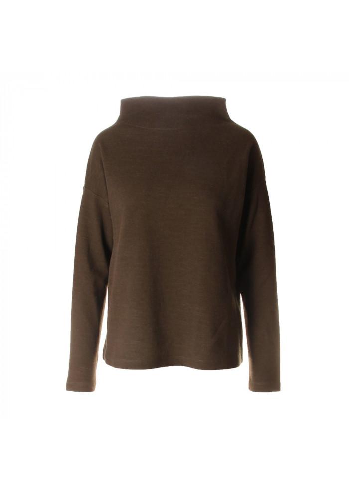 WOMEN'S CLOTHING SWEATSHIRT ORGANIC WOOL / COTTON GREEN BIONEUMA