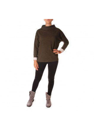 WOMEN'S CLOTHING SWEATSHIRT ORGANIC WOOL / COTTON GREEN BIONEUMA