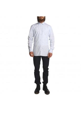 MEN'S CLOTHING SHIRT LIGHT BLUE AGLINI