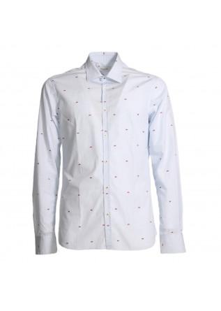 Camicia  Abbigliamento Uomo Aglini Azzurro