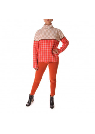 WOMEN'S CLOTHING KNITWEAR SWEATER BEIGE ORANGE PHISIQUE DU ROLE