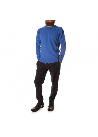 MEN'S CLOTHING KNITWEAR SWEATER CREW NECK BLUE OBVIOUS BASIC