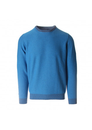 MEN'S CLOTHING KNITWEAR  SWEATER GREY LIGHT BLUE JURTA