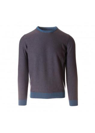 MEN'S CLOTHING SWEATER REVERSIBLE LIGHT BLUE GREY JURTA