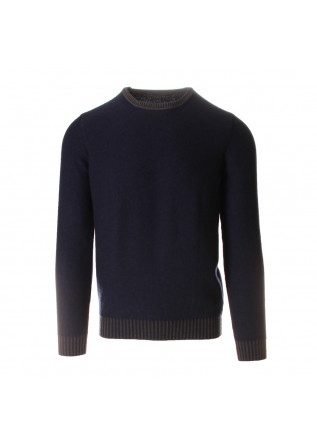 MEN'S CLOTHING KNITWEAR SWEATER CREW NECK BLUE GREEN JURTA