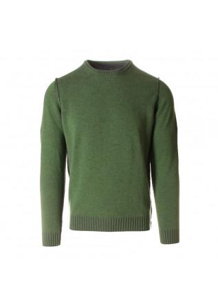 MEN'S CLOTHING KNITWEAR SWEATER CREW NECK GREY GREEN JURTA