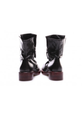 WOMEN'S SHOES ANKLE BOOTS BLACK BORDEAUX ERNESTO DOLANI