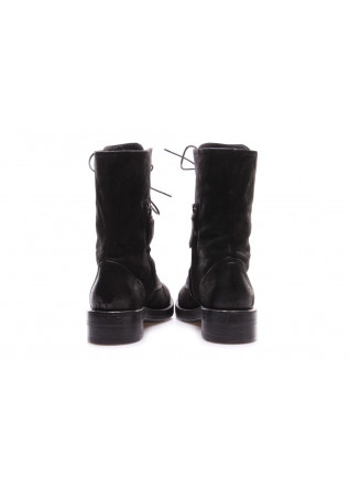WOMEN'S SHOES BOOTS LACE UP SUEDE BLACK ERNESTO DOLANI