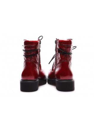 WOMEN'S SHOES ANKLE BOOTS LACQUERED RED DEI COLLI