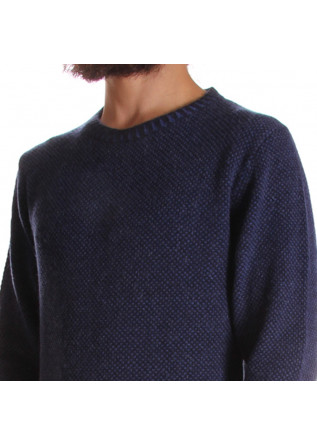 MEN'S CLOTHING KNITWEAR BLUE DANIELE FIESOLI