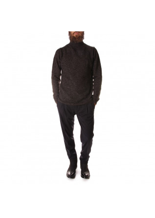MEN'S CLOTHING KNITWEAR MERINO WOOL COTTON GREY DANIELE FIESOLI