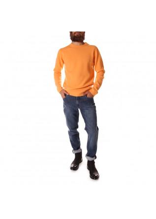 MEN'S CLOTHING KNITWEAR SWEATER MERINO ORANGE MELON DANIELE FIESOLI