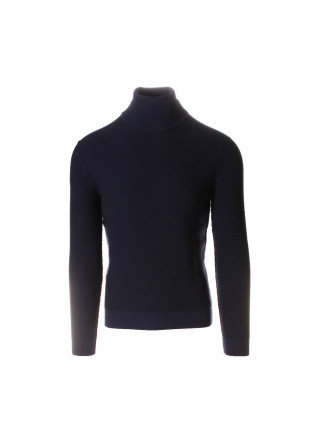 MEN'S CLOTHING SWEATER TURTLENECK METALLIC BLUE / BLUE NAVY JURTA